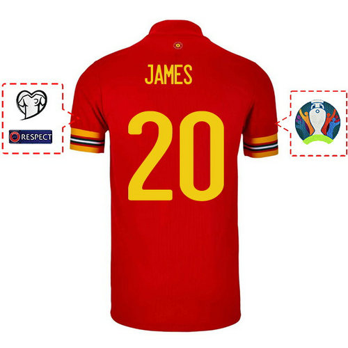 Maillot james 20 Galles 2020-2021 Domicile