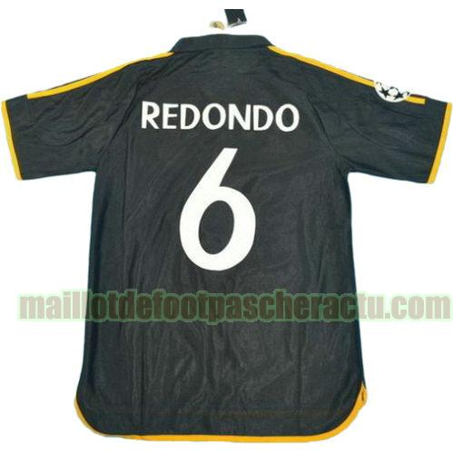maillot real madrid 1999-2000 exterieur homme redondo 6 rétro